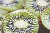 Close up slices of juicy kiwi fruit — Stock Photo