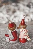 Bonitos bonecos de natal — Fotografia Stock