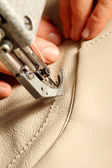 Sewing leather — Stock Photo