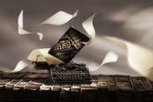 Old e new writing — Stock Photo
