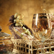 Christmas gift basket — Stock Photo #35864493