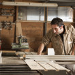 Young worker in joinery — Stock Photo #40922987