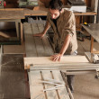 Young worker in joinery — Stock Photo #40922997