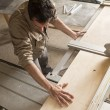 Young worker in joinery — Stock Photo #40924469