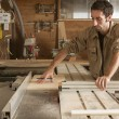 Young worker in joinery — Stock Photo #40925191