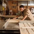 Young worker in joinery — Stock Photo #40925251