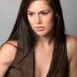 Stock Photo: Portrait of beautiful brunette woman