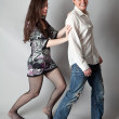 Foto Stock: Flirting Couple