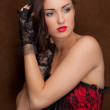 Stock Photo: Beautiful WomIn Corset