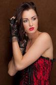 Beautiful Woman In Corset — Stock Photo