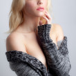 Sexy Woman in Sweater — Stock Photo