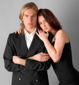Attractive Young Couple Dressed Up — Stockfoto