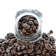 Close up view of the coffee jar — Foto de Stock