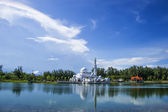 Mosque with reflection in day view — Stock Photo