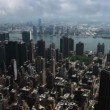 View Over New York and Manhattan — Stock Video