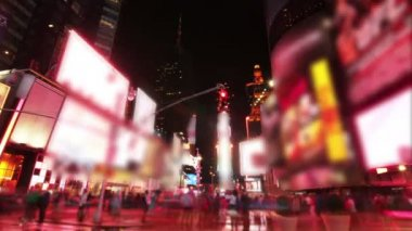 Time square New York Time lapse — Stock Video