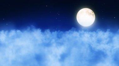 Full Moon in the night sky — Stock Video