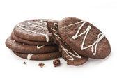 Chocolate cookies on white background — Zdjęcie stockowe