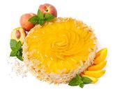 Fruit peach cake — Stock Photo