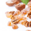 Caramel sugar macro — Stock Photo