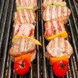 Skewers on Grill — Stock Photo