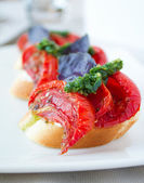 Sundried Tomato Bruschetta — Stock Photo
