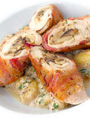 Chicken Roulade — Stock Photo