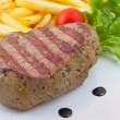 Stock Photo: Steak on White