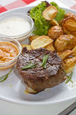 Steak and Rosemary — Stockfoto