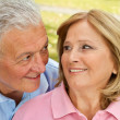 Stock Photo: Seniors loving moment