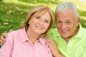 Seniors in park — Stock Photo
