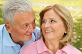 Seniors loving moment — Stock Photo