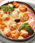 Gnocchi in Sauce — Stock Photo