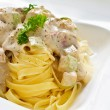 Stock Photo: Tagliatelle Alfredo