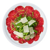 Carpaccio Overhead — Stock Photo