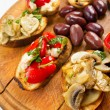 Bruschetta Closeup — Stock Photo