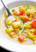 Vegan Soup Close Up — Stock Photo