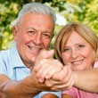 Seniors Smiling — Stock Photo