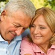 Seniors Hug — Stock Photo