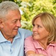 Seniors Eye contact — Stock Photo #35707097