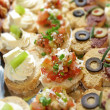 Fresh Canapes — Stock Photo