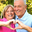 Seniors in Love — Stock Photo