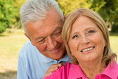 Seniors Whisper — Stock Photo