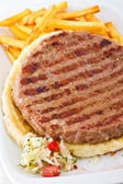 Serbian BBQ Burger — Stock Photo