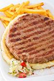 Serbian BBQ Burger — Stock Photo