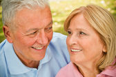 Seniors Eye Contact — Stock Photo