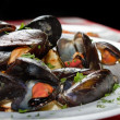 Stock Photo: Mussels CloseUp