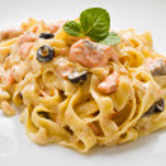 Salmon Pasta — Stock Photo #46358589