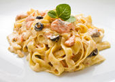 Pasta salmone — Foto Stock