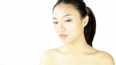 Nude girl blink — Stock Video